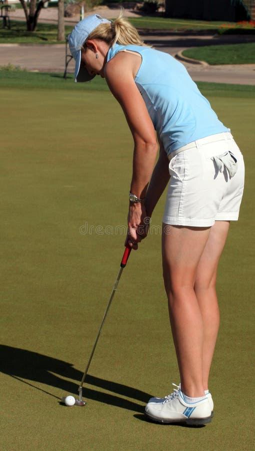 LPGA ProGolfspeler Jill McGill stock foto's