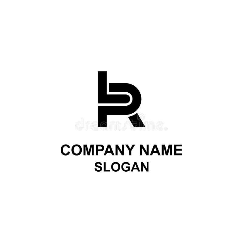 LR brieven aanvankelijk embleem vector illustratie