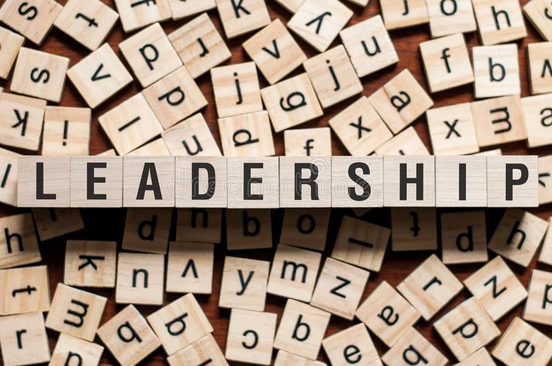 Leadership word concept stock images