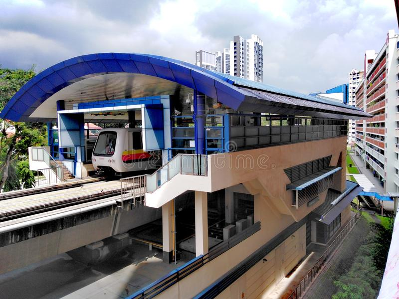 LRT火车在新加坡 免版税库存图片