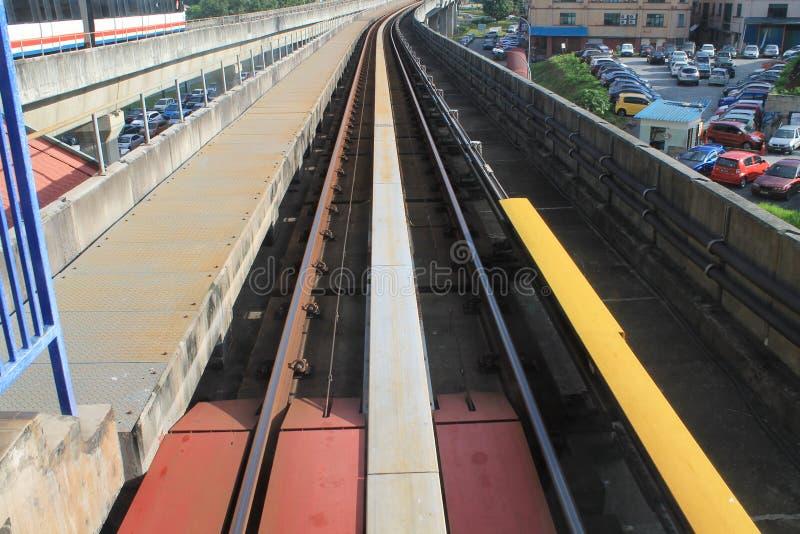LRT轨道 库存照片