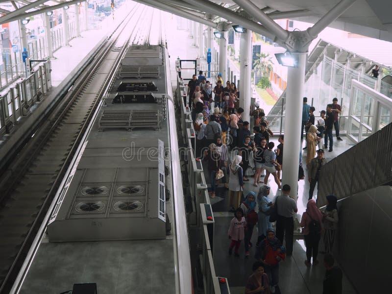 LRT雅加达 库存图片