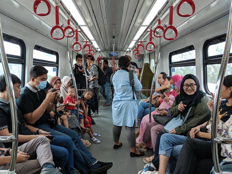 LRT Τζακάρτα στοκ φωτογραφία με δικαίωμα ελεύθερης χρήσης