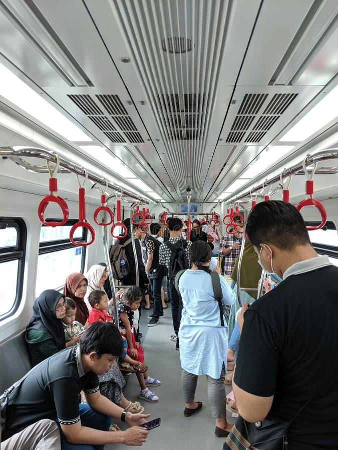 LRT Jakarta fotografie stock libere da diritti