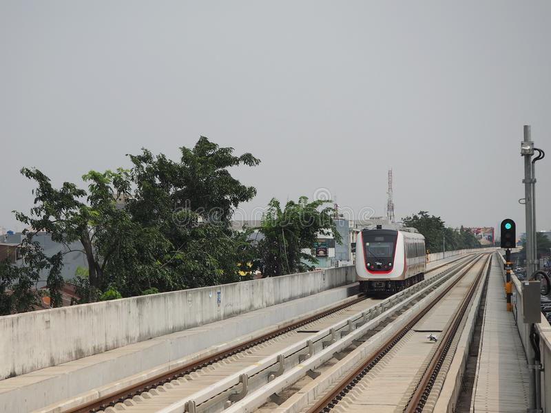 LRT Jakarta fotografia stock