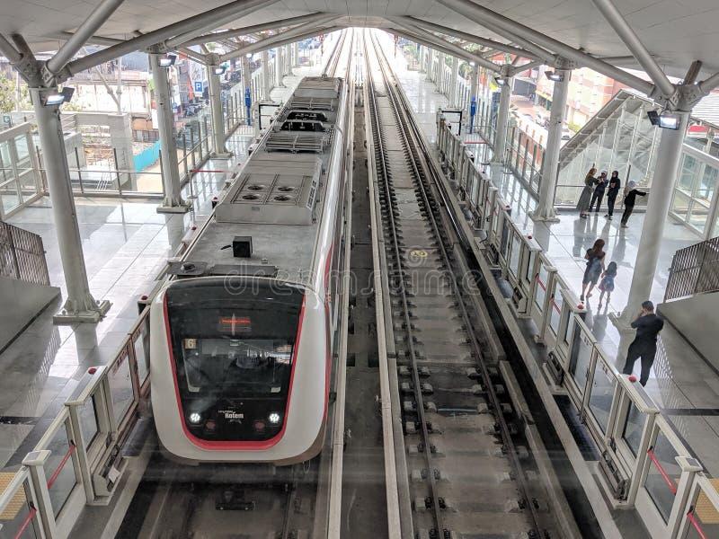 LRT Jakarta fotografia stock libera da diritti