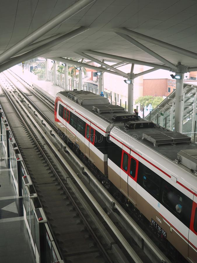 LRT Jakarta stockfotografie