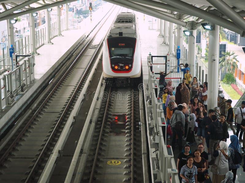 LRT Jakarta lizenzfreies stockfoto