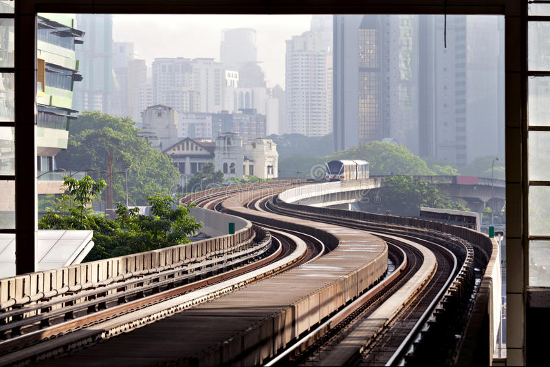 LRT metro of Kuala Lumpur