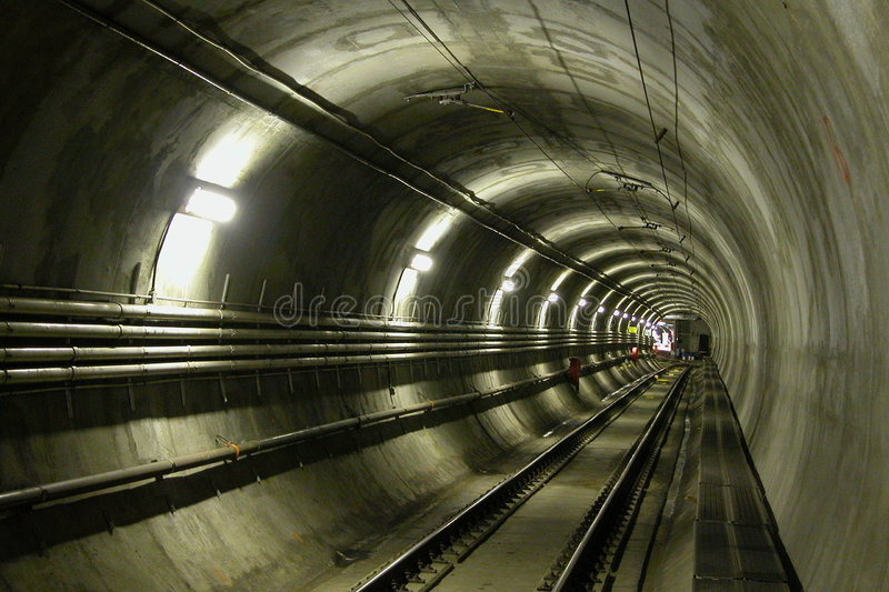 LRT Tunnel royalty free stock photos