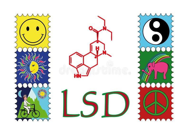 LSD ilustração royalty free
