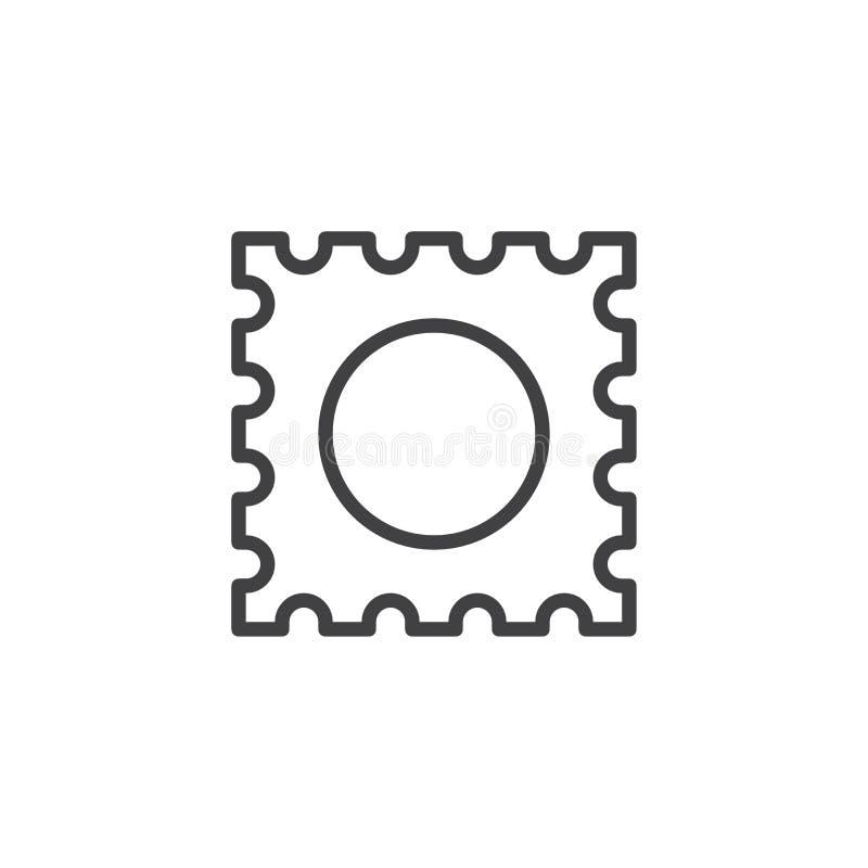 LSD pastylki konturu ikona ilustracja wektor