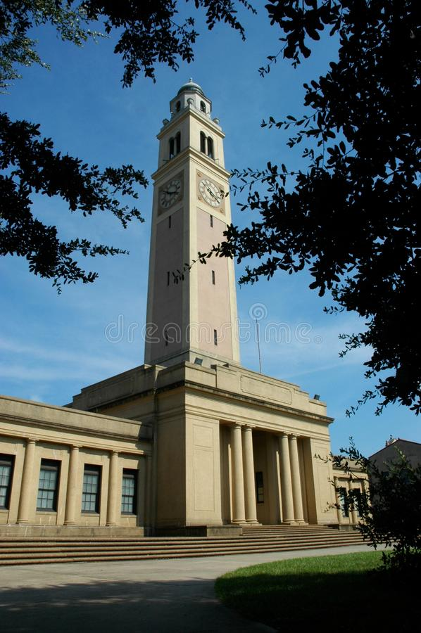 LSU Memorial Tower royalty free stock image