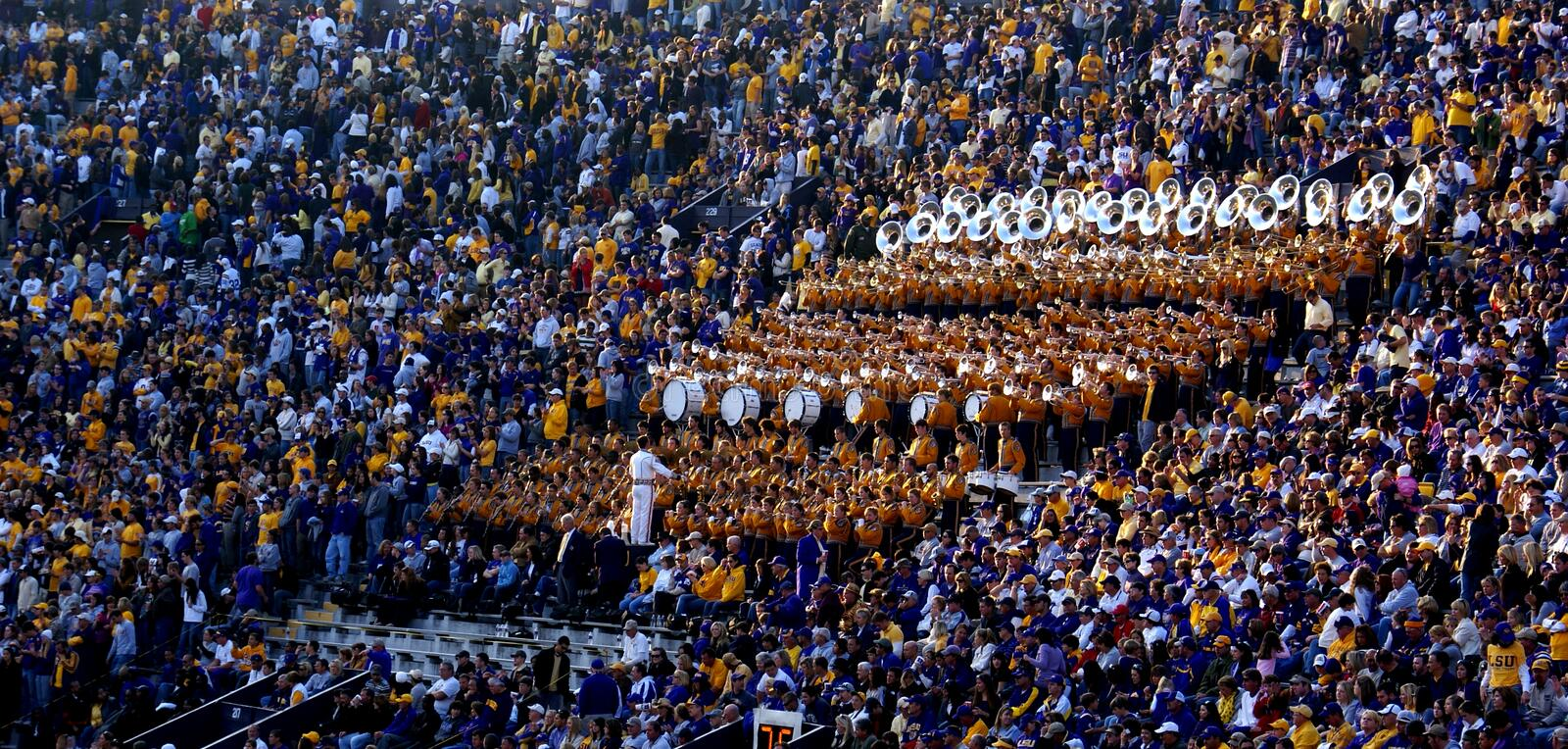 LSU Tiger Band And Golden Girls Editorial Photography