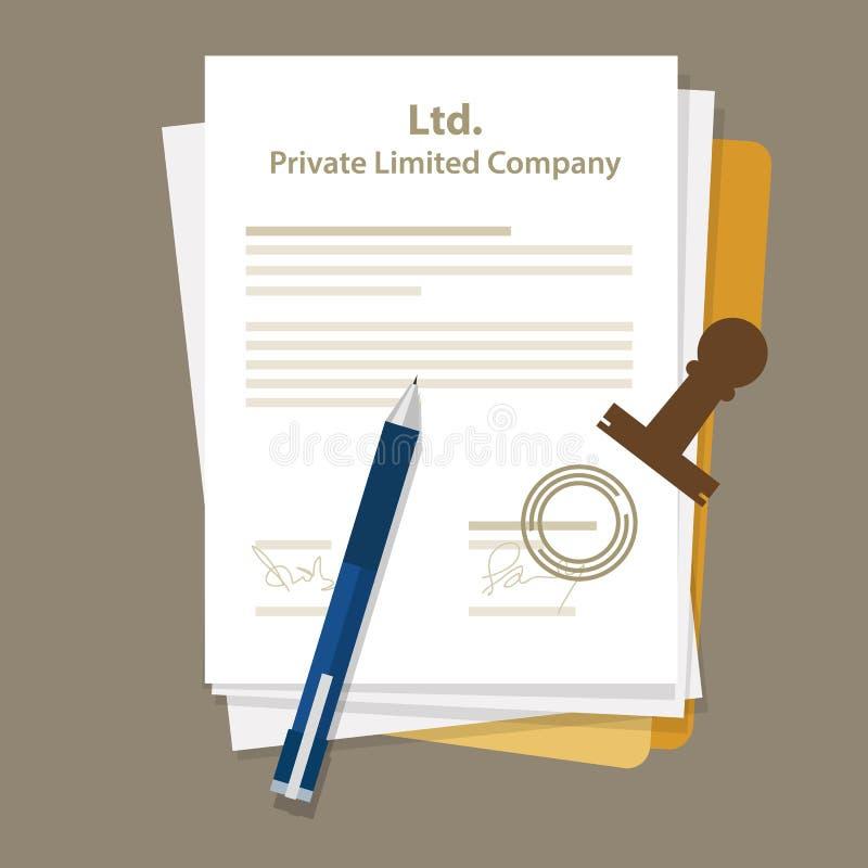 Ltd Intymna Ograniczający Firma typ biznesowej korporaci organizaci jednostka ilustracji