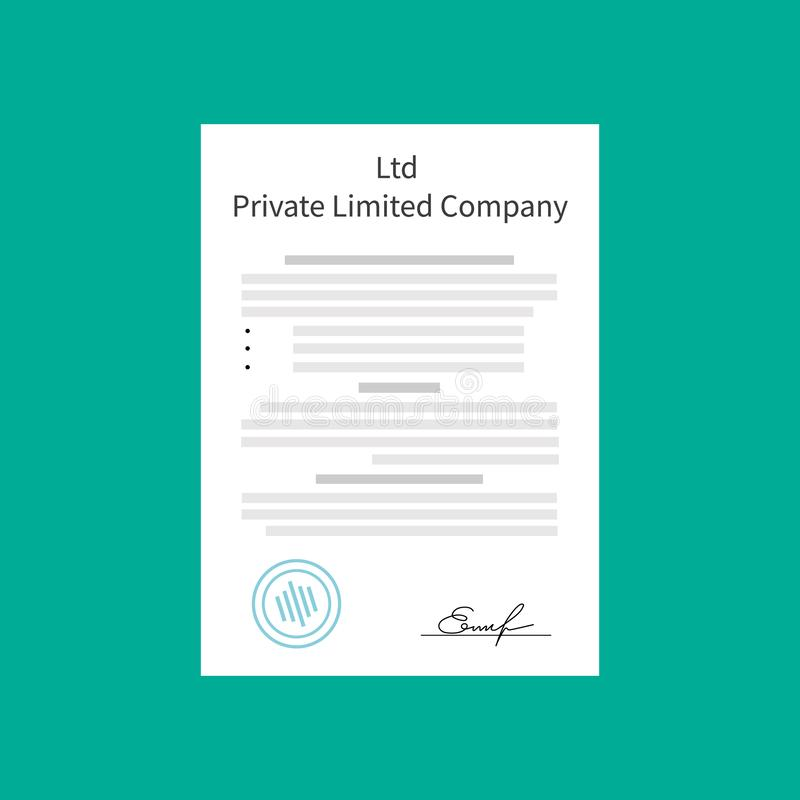 Ltd Private Limited Company Types of business corporation organization entity stock illustration