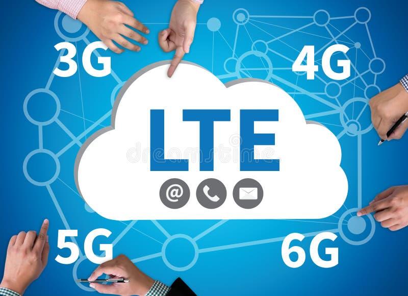 LTE概念3g 4g 5g 6g 库存图片
