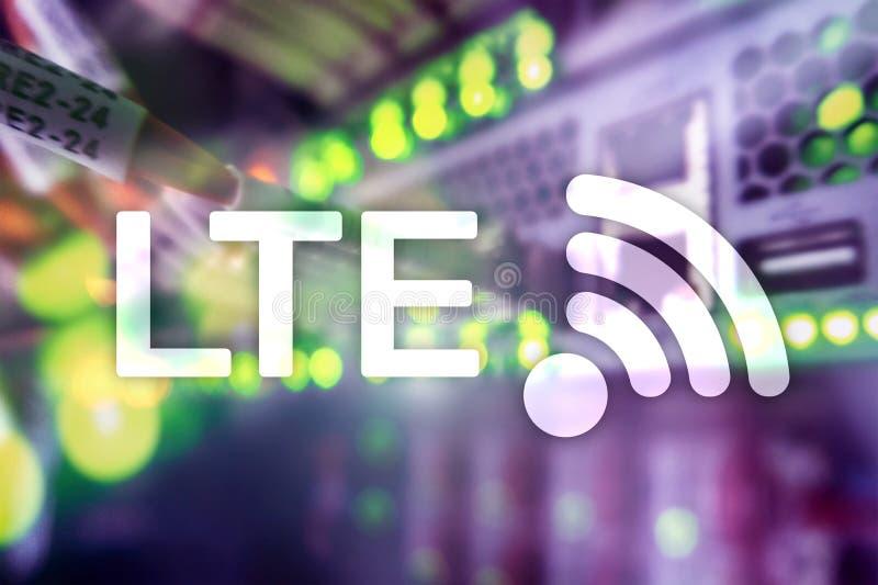 LTE, concept sans fil de technologie de l'Internet 5g 4G s'est relié image libre de droits