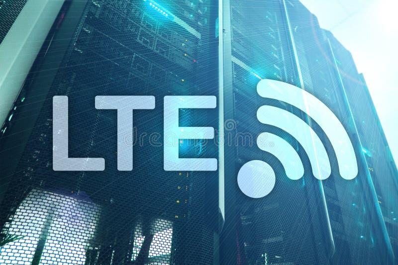 LTE, 5g wireless internet technology concept. Server room big server. LTE, 5g wireless internet technology concept.Server room big server data stock photos