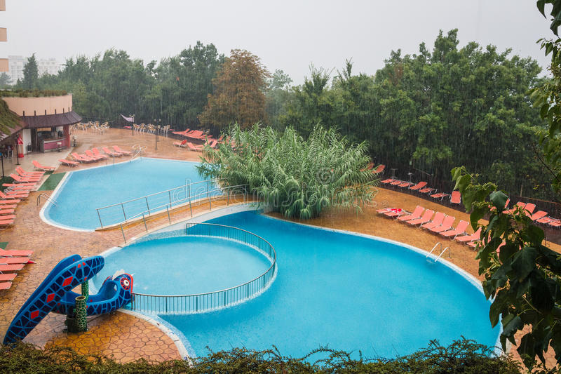 LTI Berlin Green Park swimmingpool - Golden Sands Bulgaria stock photos