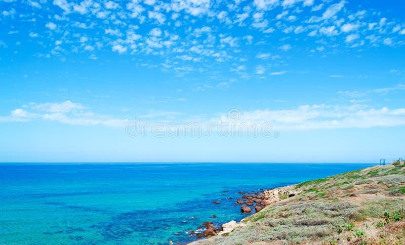 Lu Bagnu kust royalty-vrije stock afbeelding