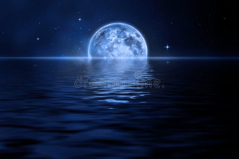 Download Lua ilustração stock. Ilustração de azul, nuvens, nave - 12809362
