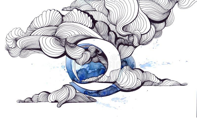 Lua ilustração do vetor