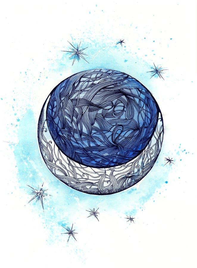 Lua ilustração royalty free