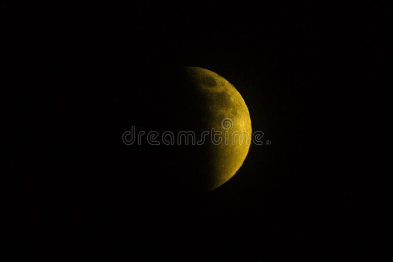 Lua amarela grande foto de stock royalty free