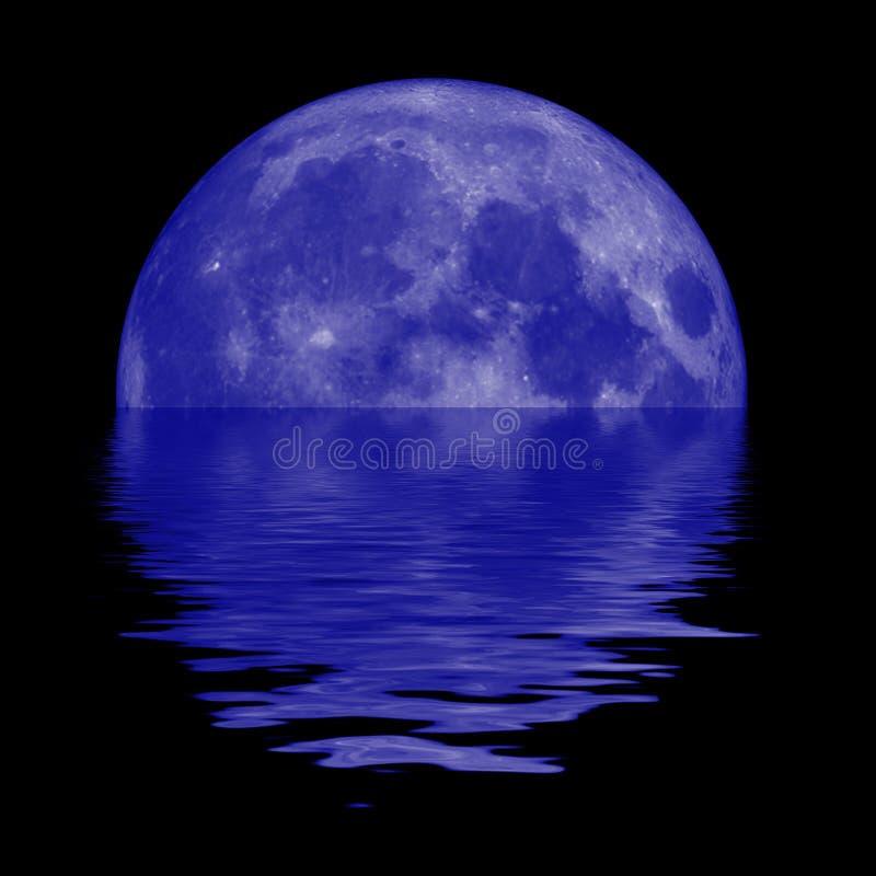 Lua azul ilustração do vetor