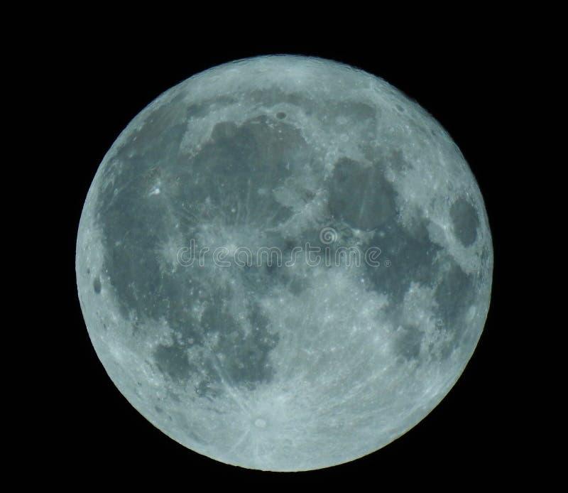 Lua cheia bonita no outono fotografia de stock