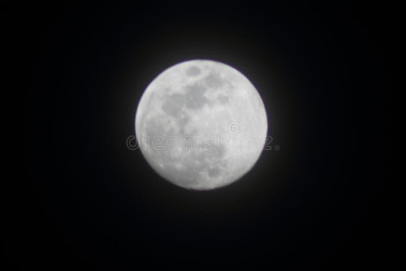 Lua cheia brilhante em abril imagem de stock