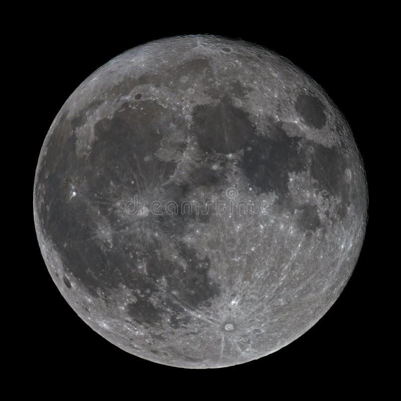 Lua cheia 3 de dezembro de 2017 super foto de stock