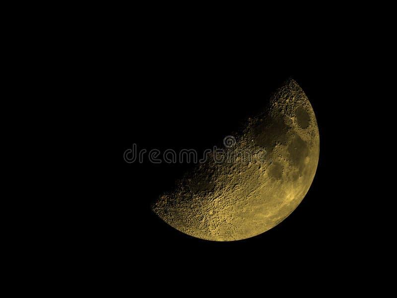 Lua cheia dourada fotografia de stock royalty free