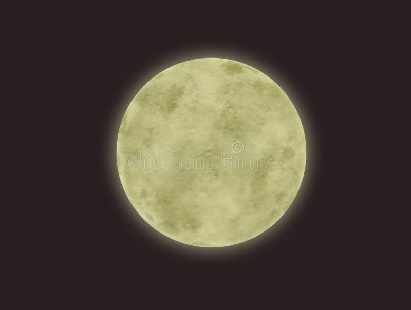 Lua cheia em um fundo escuro fotografia de stock