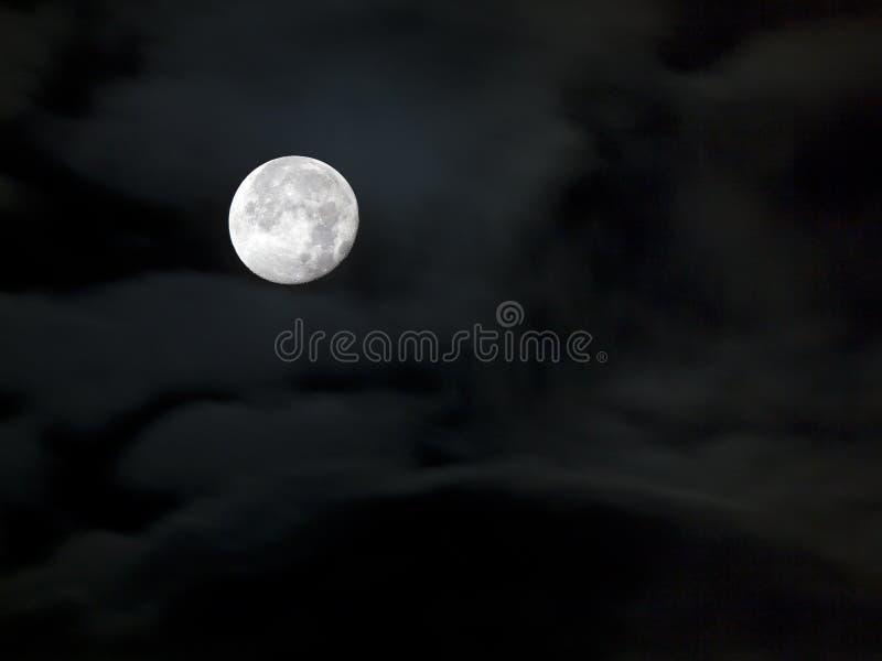 Lua cheia no céu escuro fotos de stock royalty free