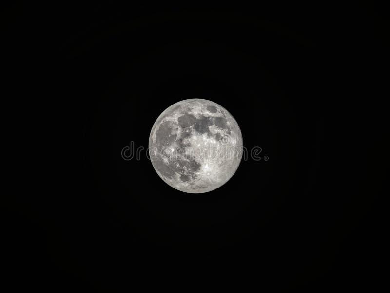 Lua cheia no c?u nocturno escuro fotos de stock