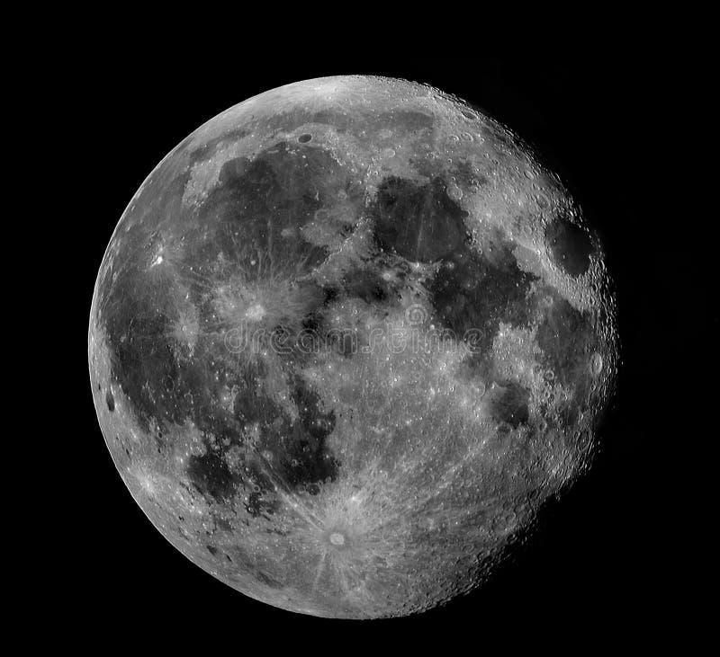Lua cheia (preto & branco) fotografia de stock royalty free