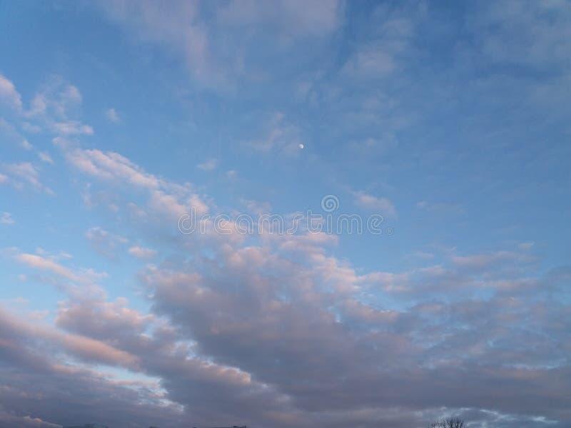 Lua com as nuvens em Ucrânia fotografia de stock royalty free