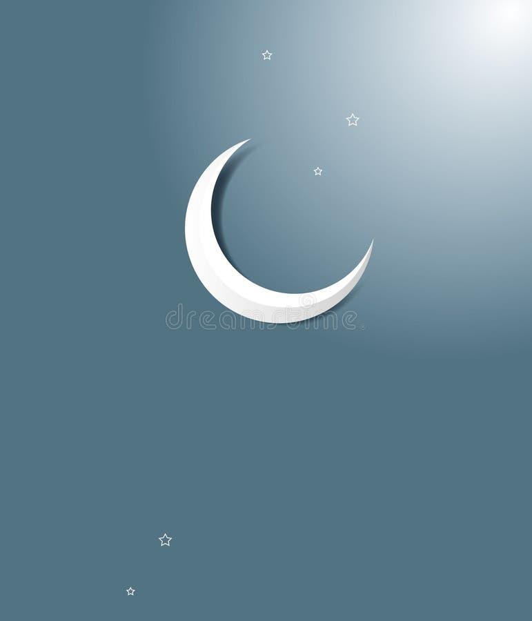 lua crescente de ramadan ilustração royalty free
