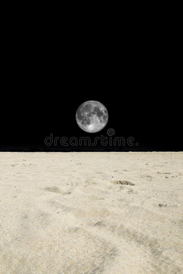 Lua de Sahara fotografia de stock