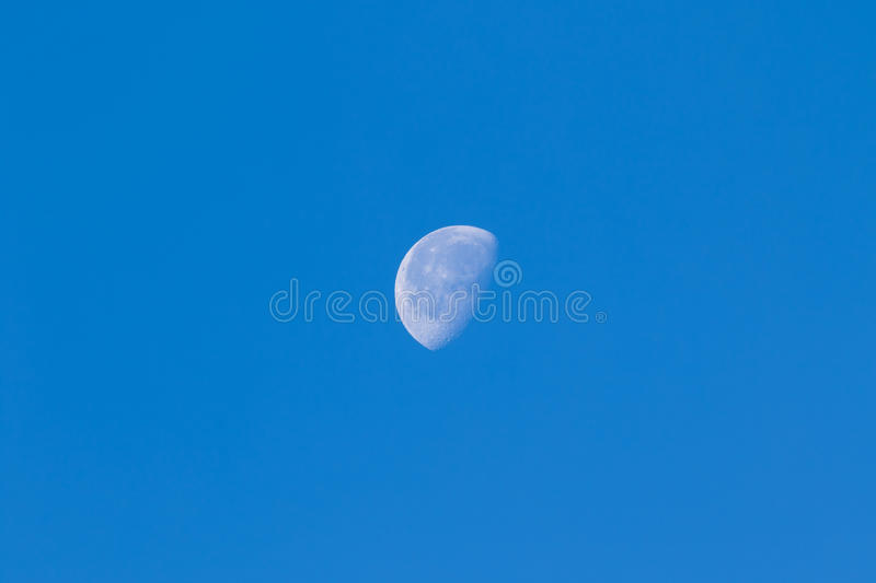 Lua do dia fotografia de stock
