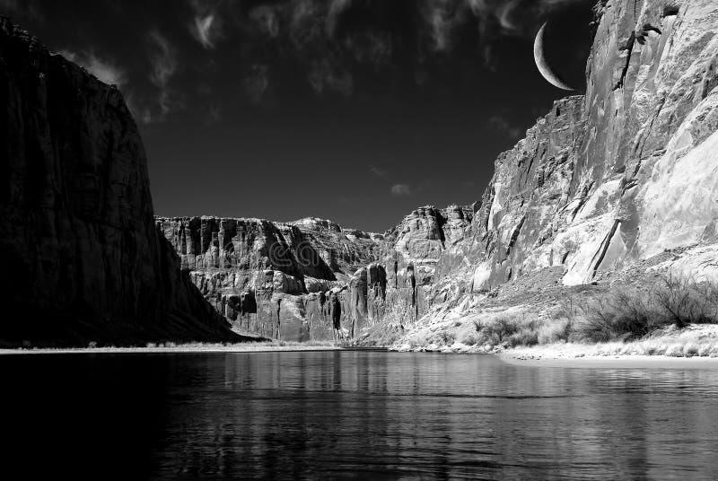 Lua do Rio Colorado imagem de stock
