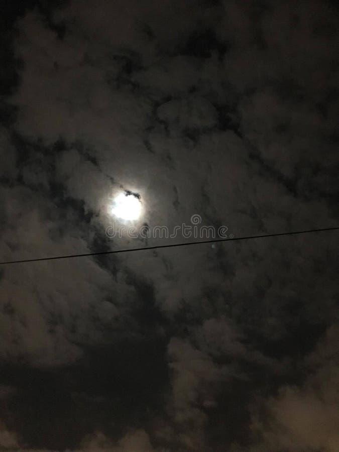 Lua durante a noite fotografia de stock royalty free