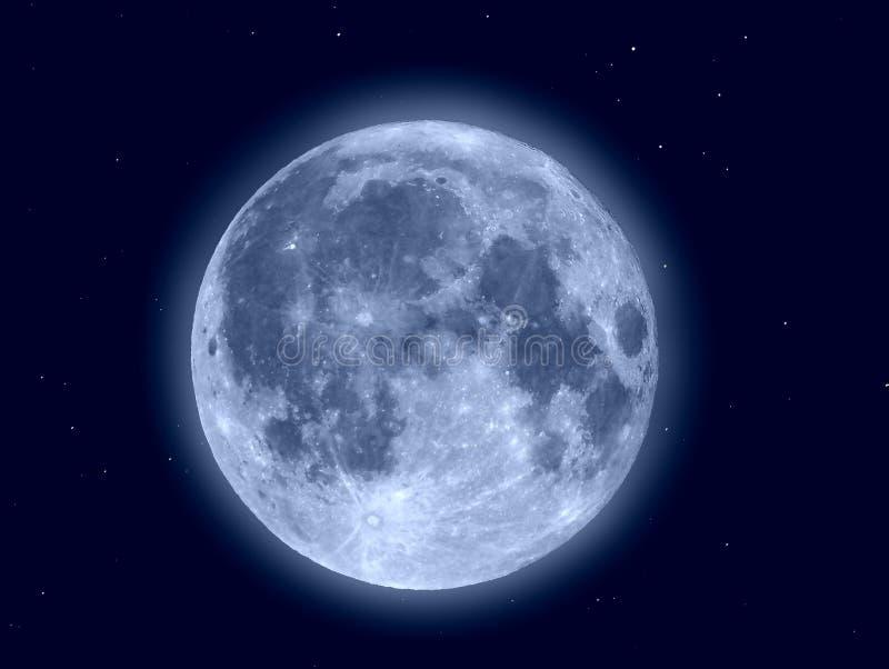 Lua e estrelas imagens de stock royalty free