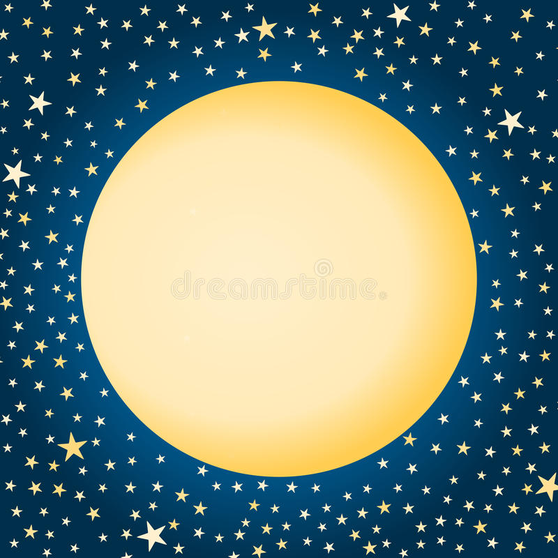 Lua e estrelas ilustração royalty free