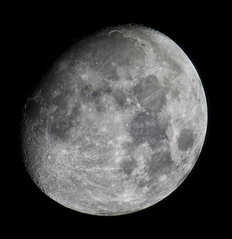 A lua e suas crateras fotos de stock