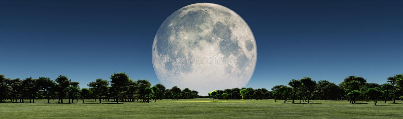 Lua gigante ilustração do vetor