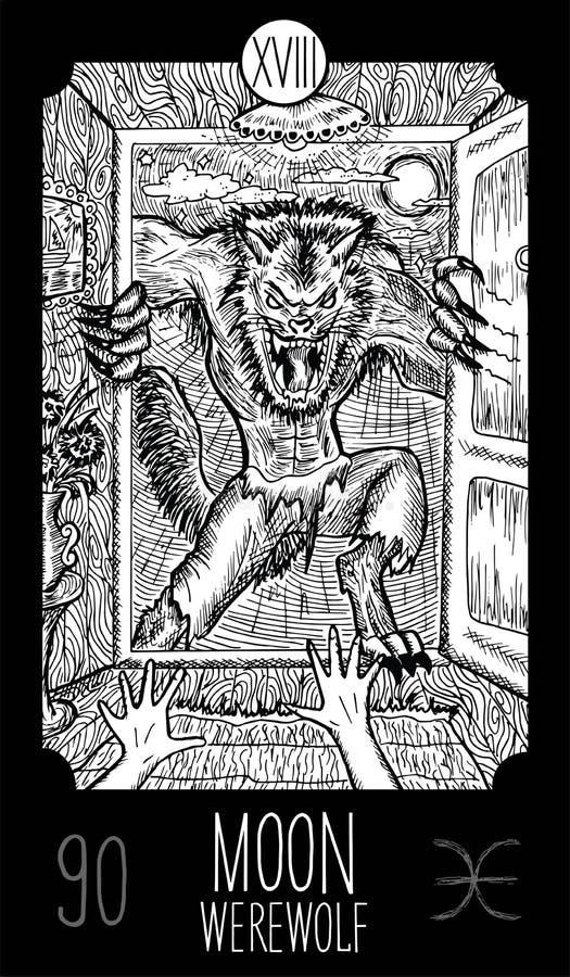 Lua homem-lobo ilustração royalty free