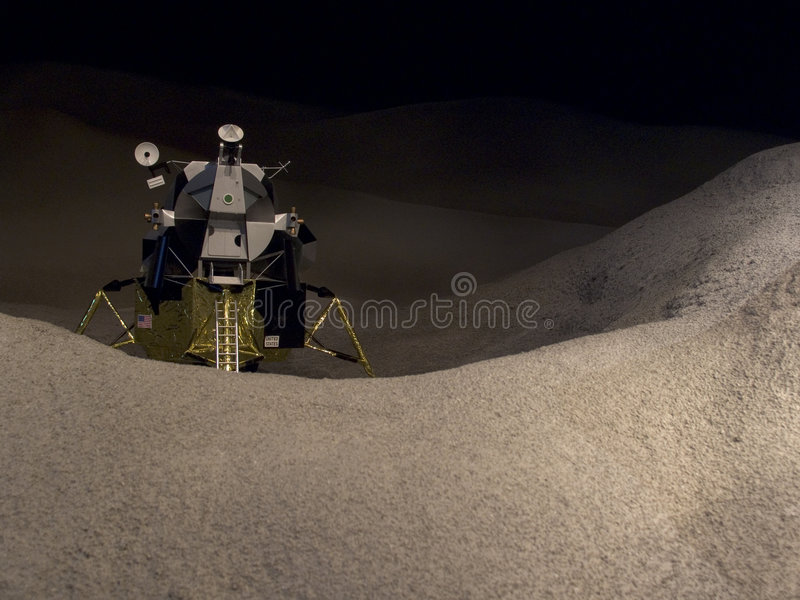 Lua Lander horizontal foto de stock